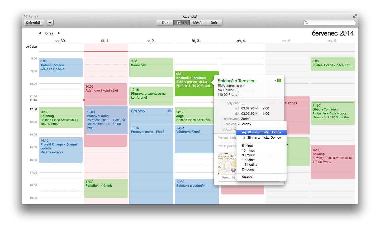 Čas cesty v kalendári - už nikdy neprídete neskoro na schôdzku alebo tréning