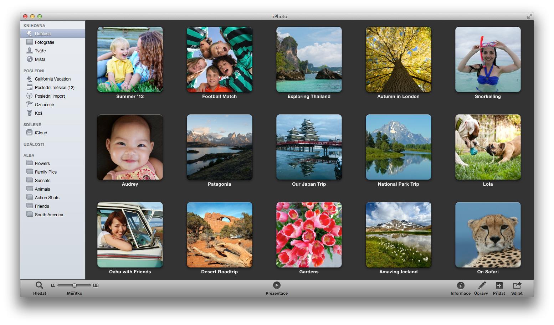 iPhoto: udalosti, albumy a ako s nimi efektívne pracovať
