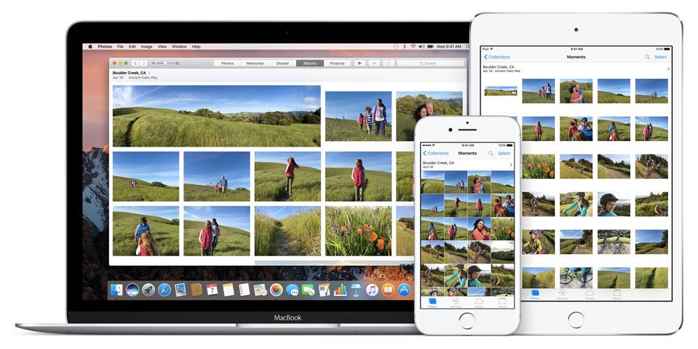 Knihovna fotografií na iCloudu