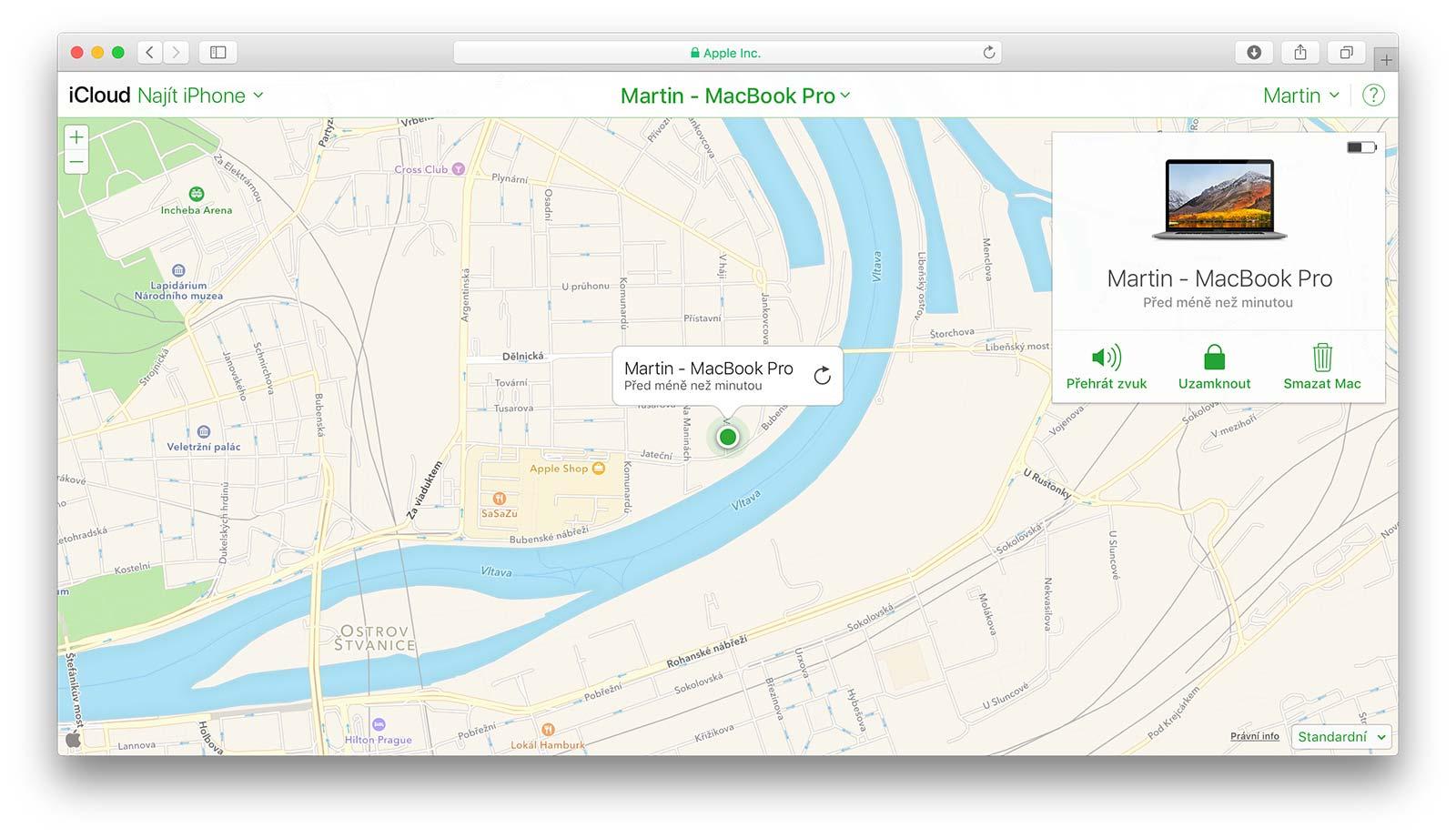 Najít můj Mac