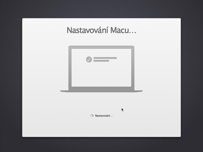 Nastavování Macu