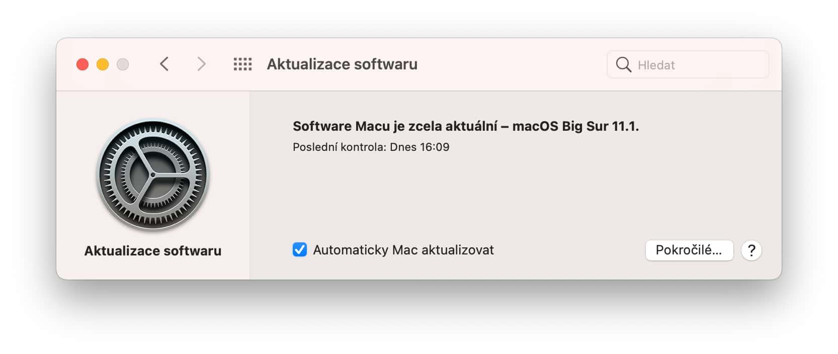 Aktualizace softwaru v macOS Catalina